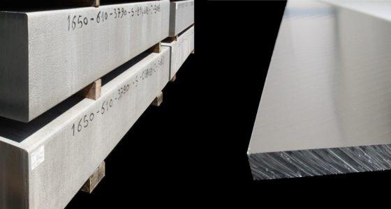 Piastre laminate, fresate e placche in alluminio